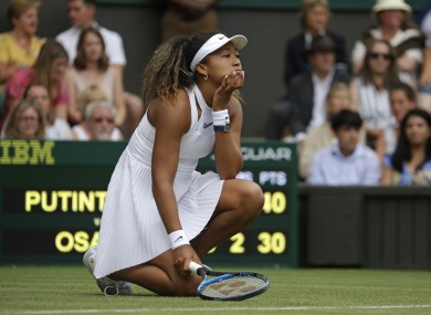Osaka was stunned on Centre Court.