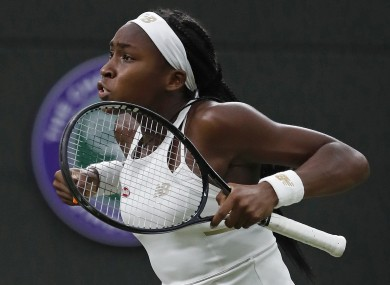 Gauff is through to the last 32 at Wimbledon.