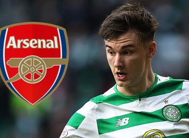 Celtic's Kieran Tierney is a target for Arsenal.