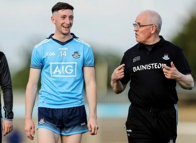 Dublin forward Ciarán Archer and manager Tom Gray.