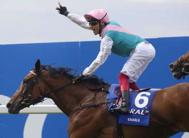 Frankie Dettori and Enable won The Coral-Eclipse Race run.