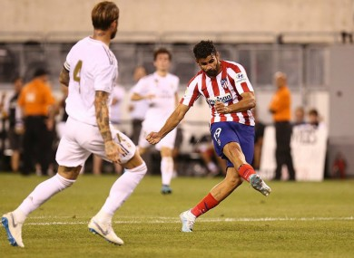 Diego Costa scores for Atletico.