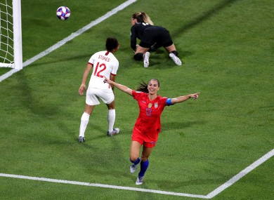 Alex Morgan scored the winner for the defending world champions.