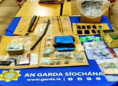 Some of the items seized