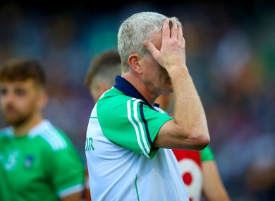 A tough night at the office for Limerick's John Kiely on Saturday.