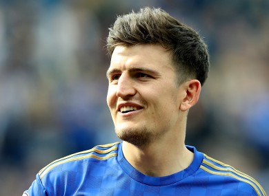 Harry Maguire: attitude praised by Rodgers.