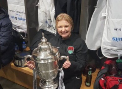 Fallon after winning the 2016 FAI Cup with Cork City.