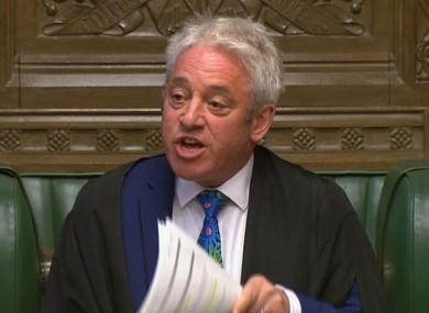 House speaker John Bercow.