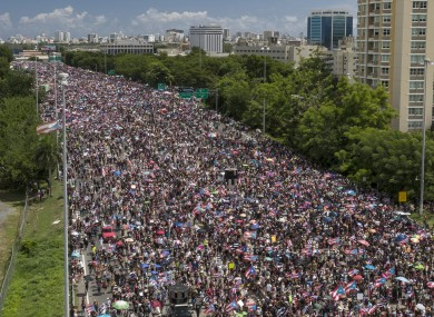 Thousands take to the streets in the island's capital.