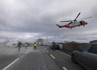 Emergency services searching for the wreckage of Rescue 116 two years ago.