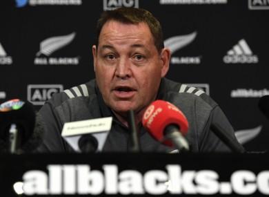All Blacks head coach Steve Hansen.