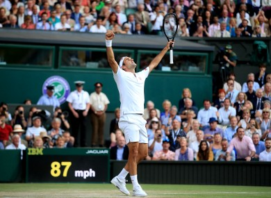 Federer after defeating Nadal in the semi-final.