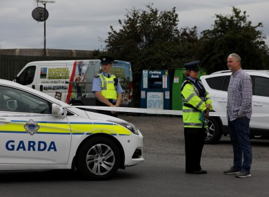Gardai in front of the Ashling Holiday Park following yesterday's shooting