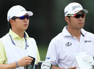 Hideki Matsuyama (right).