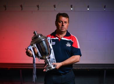 Cork boss Denis Ring at today's Bord Gáis Energy All-Ireland hurling media day.