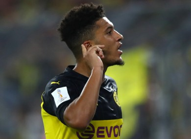 Jadon Sancho (file pic).