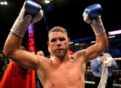 Saunders' next opponent will be confirmed next week.