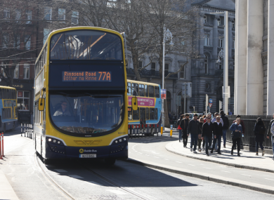 File photo of a bus in Dublin city centre.