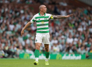 Scott Brown during Celtic's second qualifying round meeting with Nomme Kalju.