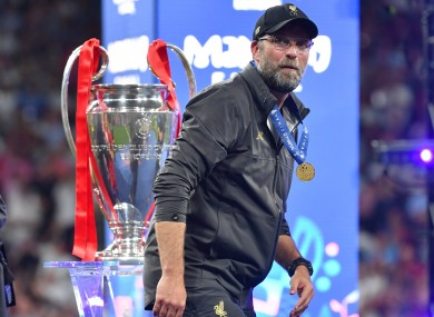 Jurgen Klopp's side were victorious in Madrid back in May.