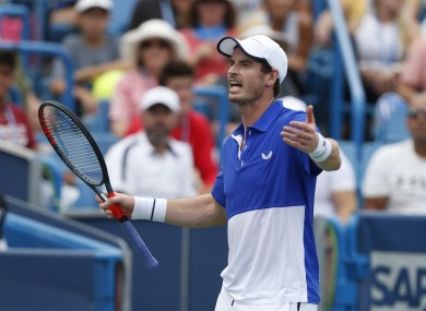 Murray suffered defeat on Monday.