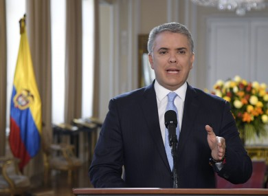 President Ivan Duque has condemned the FARC dissidents.