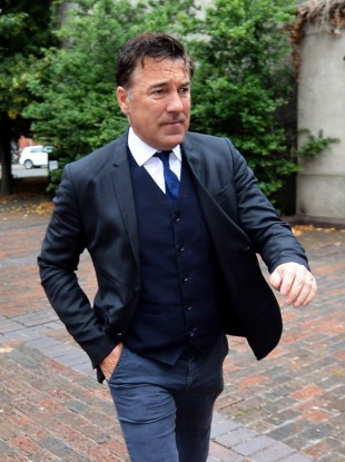 Ex-Premier League footballer Dean Saunders arrives at Chester Magistrates' Court.