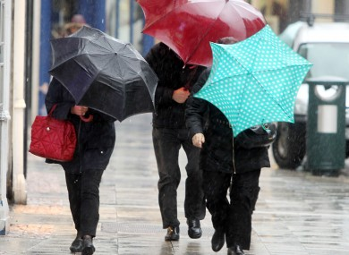 Eight counties in the west of Ireland have been issued with the warning.