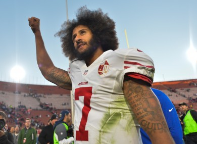 Colin Kaepernick pictured in 2016.