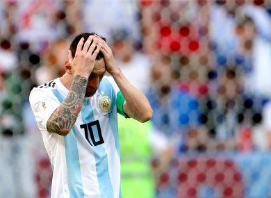 The Argentina star will be out of action for three months.