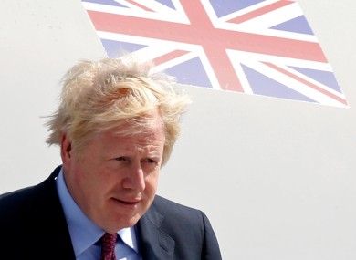 Prime Minister Boris Johnson arrives in Biarritz, France, for the annual G7 summit yesterday