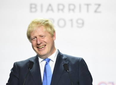 Boris Johnson offered few new Brexit details during a press conference at the G7.