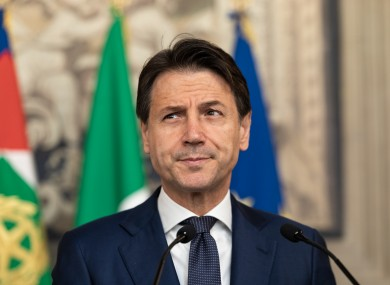 Prime Minister Giuseppe Conte speaks to the media after the approval of the new government by the Italian president.