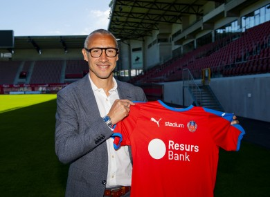 Larsson was unveiled as Helsingborg manager in June.