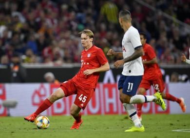 Johansson in action for Bayern Munich against Tottenham during pre-season.