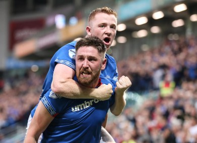 Mark Stafford scored Linfield's opening goal.