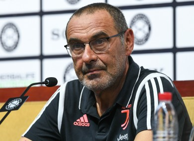 Sarri joined Juventus from Chelsea during the summer.