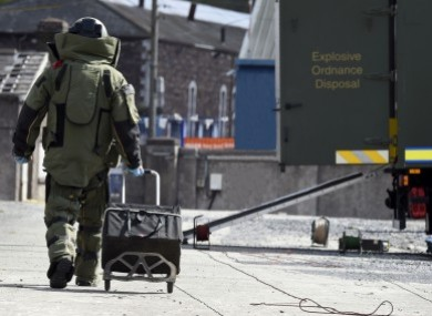 A file photo of the army's bomb squad.
