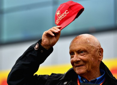 Niki Lauda at the 2017 British Grand Prix.