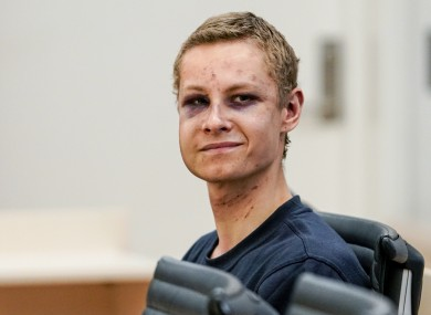 Suspect Philip Manshaus appears in court, in Oslo, Norway
