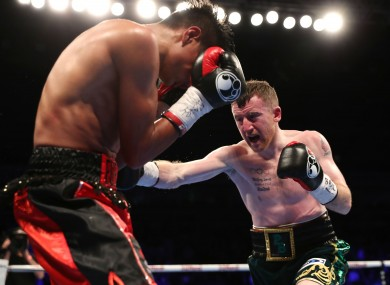 Paddy Barnes in action against Eliecer Quezada.