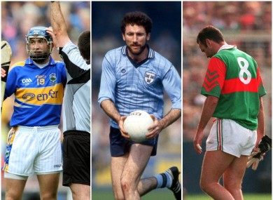 Benny Dunne, Kieran Duff and Liam McHale have all been sent off in All-Ireland finals.