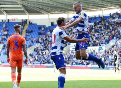 George Puscas celebrates for Reading