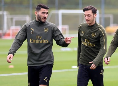 Kolasinac and Ozil won't travel to St James' Park on Sunday.