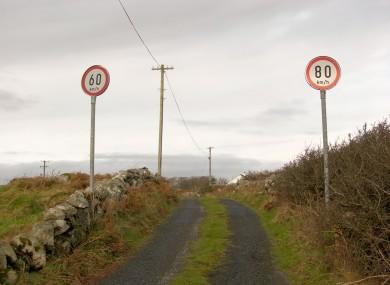 Speed limit signs in Connemara.