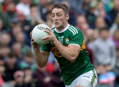 O'Brien in action for Kerry against Tyrone.