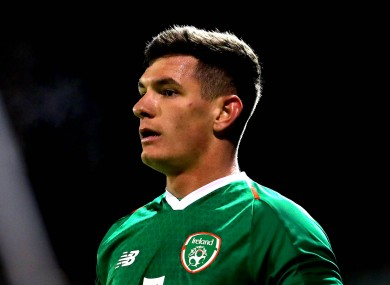 Trevor Clarke pictured while playing for a home-based Republic of Ireland U21 side back in February.