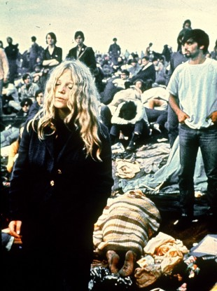 Punters at the Woodstock festival in 1969.