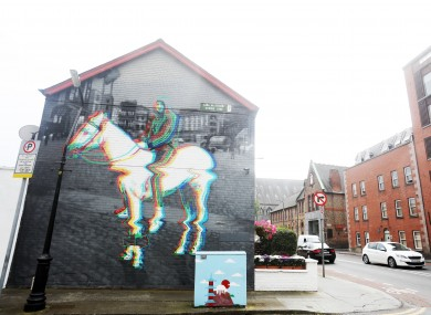 The #Horseboy' mural located on the wall of a house just off Church Street in Dublin