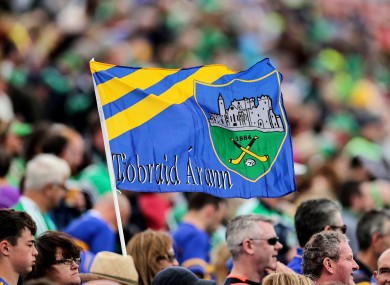 A general view of a Tipperary flag.